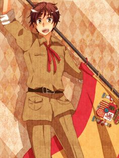 Spain one of my favorite characters as he is very handsome and very sweet to Romano.