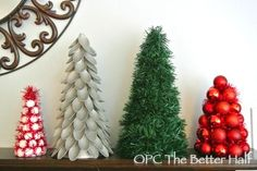 diy trees four ways - using dollar store stuff