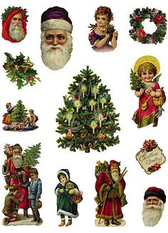 Christmas (I don't mind sharing these with you - awesome free printouts for scrapbooking Christmas cards. Let's be realistic, I'm never going to make them lol)