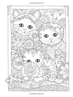 Adult Coloring Creative Kittens Coloring Book (Creative Haven Coloring Books) Cat Coloring Page, Free Adult Coloring Pages, Mandala Coloring Pages, Animal Coloring Pages, Coloring Pages To Print, Coloring Book Pages, Printable Coloring Pages, Coloring Sheets, Cat Doodle