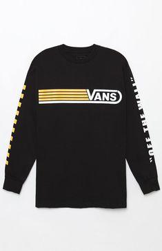 e37e775a999 Line Up Long Sleeve T-Shirt Vans Jacket, Vans Hoodie, Vans T Shirt
