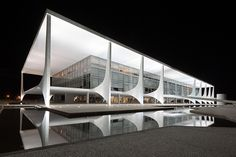 Night photography of Brasilia by fine art architectural photographer Andrew Prokos featured in Dezeen Magazine - andrewprokos.com