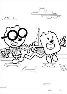 Wow Wow Wubbzy Coloring Pages 12