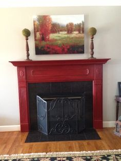 Fireplace Mantel Red - cranberry/crimson/garnet - focal point and accent color - bright pop!