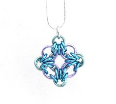Chain Maille Pendant Pastel Jewelry Multicolor by XairianMaille, $17.00 #CHAINMAILLE