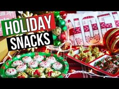DIY Holiday Snack Ideas & Christmas Treats | LaurDIY - YouTube