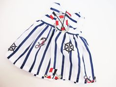 Sailor suit sailor dress waldorf doll by APlusJewelryCrafts