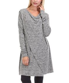 Look what I found on #zulily! Gray Cowl Neck Tunic - Plus #zulilyfinds