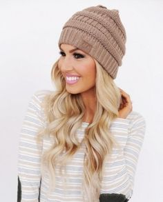47cb8a58c7a The slouchy khaki knit CC Beanie is a must for winter. Check out the other