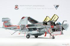 "1/48 KINEETIC US NAVY EA-6B Prowler VAQ-132 ""Scorpions"""