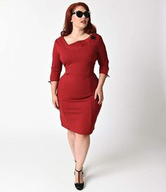 Carmen Wiggle Dress, Burgunder