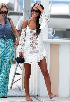 T Bags Crochet Open Shoulder Dress | SINGER22.com