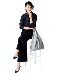 シルエットや素材を変えればOK!黒パンツのおしゃれバリエMarisol ONLINE 女っぷり上々!40代をもっとキレイに。