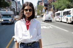A trusty bandana never fails. http://www.manrepeller.com/2015/07/fast-fashion-shopping.html