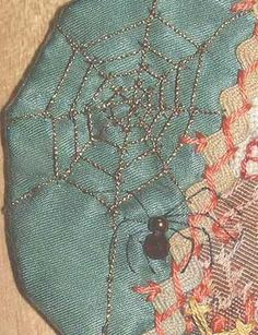 Crazy Quilt Spider Web | ... web…below are instructions for stitching a spiders web and spider
