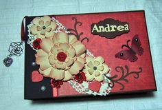 "Scrapbook Fotoalbum ""Red"" von Pink Paper Raven auf DaWanda.com"