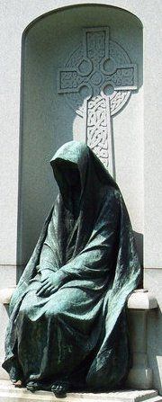 Statue at a grave in Belfontaine Cemetery - St. Louis, MO