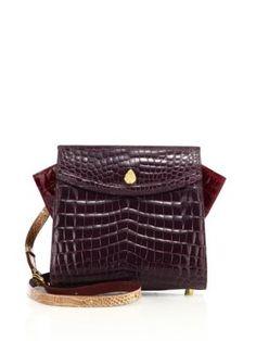 0df3223a029d ETHAN K Adina Small Crocodile Crossbody Bag.  ethank  bags  shoulder bags   . Leather ...