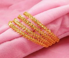 These bangles are lightweight and durable.