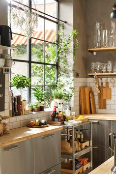 Kitchen Styling, Kitchen Decor, Japanese Interior, Indian Home Decor, Kitchen Layout, House Rooms, Interior Design Kitchen, Home And Living, Home Kitchens