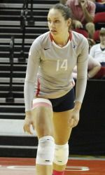 Setter Brooke Legaux led the team with 17 assists on Saturday.