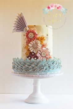 Shabby Chic Vintage Lace Cake - Cake by Ever After