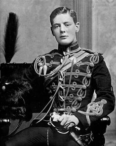 Second Lieutenant Winston Churchill of the 4th Queen's Own Hussars, 1895. Image: Time Life Pictures/Pictures Inc./ The Life Picture Collection/ Getty Images