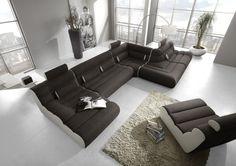 Elements moderní variabilní sedací souprava černá-bílá / modular living room sofa Couch, Furniture, Design, Home Decor, Settee, Decoration Home, Sofa, Room Decor