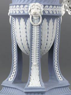 Antique Porcelain, English Porcelain, George III Wedgwood Candelabra ~ Late 18th Century