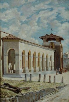 Florence, Gazebo, Taj Mahal, Outdoor Structures, City, Building, Travel, Pintura, Water Glass