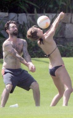 Adam Levine & Nina Agdal
