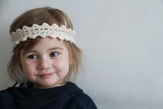 Háčkovaná čelenka pro malou vílu / Crochet