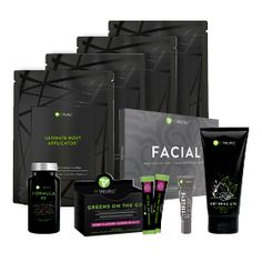 Party Booster™ | It Works  4 bags* of Ultimate Body Applicators™ 1 Defining Gel™ 1 Facial™ 1 Lip & Eye 1 Greens on the Go™ – Berry Flavour 1 Formula FF