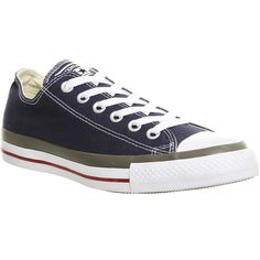 Converse All Star Low (€62) ❤ liked on Polyvore featuring shoes, sneakers