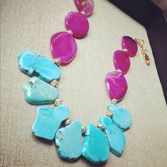MAD-Turquoise Slab Necklace via Etsy.