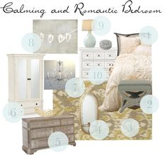 Mood Board: Calming and Romantic Bedroom - Simply Swider