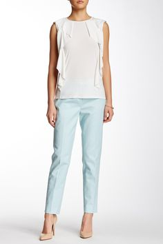 CeCe by Cynthia Steffe - Double Weave Slim Pant at Nordstrom Rack. Free Shipping on orders over $100.