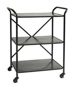 Rullebord i jern - 71x47 - sort