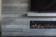 Board Formed Concrete Fireplace, Toronto