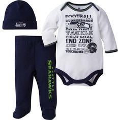 NFL Seattle Seahawks Baby Boys Team Sleep  N Play Outfit 438320c2e