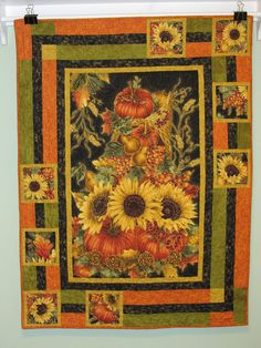 Sunflower Quilt is a great way to use a panel