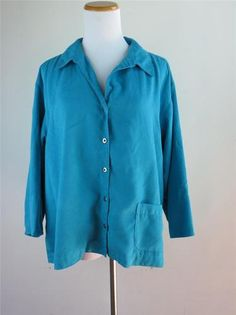 #Chicos Teal Faux Seude #Blouse Top Shirt 3 4 Sleeve Size 3 Soft Comfy Feel | eBay Visit our Chico Department on ebay $22.95