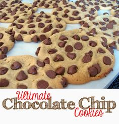 My secret to getting the maximum number of chocolate chips in every cookie!
