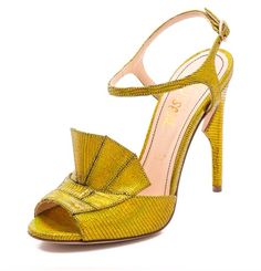 Jerome C. Rousseau Lio Metallic Heeled Sandals-Gold