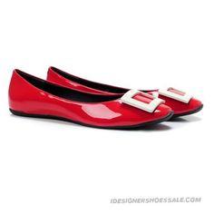 Roger Vivier Belle De Nuit Red Ballerinas Flats