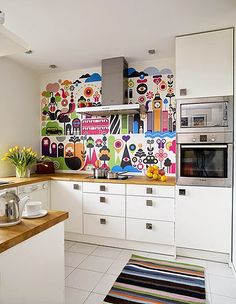 80 Favorite Colorful Kitchen Decor Ideas And Remodel for Summer Project 47 – Home Design Colorful Kitchen Decor, Kitchen Colors, Beautiful Kitchens, Cool Kitchens, Cuisines Design, Home And Deco, Modern Kitchen Design, Kitchen Interior, Kitchen Remodel