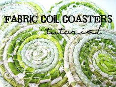 Two Shades of Pink: Fabric Coil Coasters : I ♥ Green!