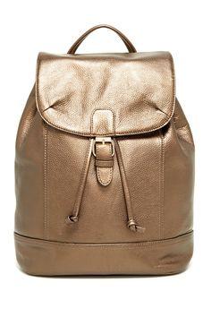 Bronze! Metallic Rose Gold Leather Backpack | HauteLook