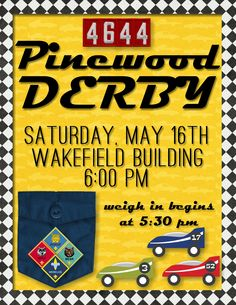 Cub Scout Pinewood Derby Flyer