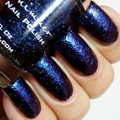 Pin for Later: You'll Be Obsessed With These Glittery, Color-Changing Nail Polishes KBShimmer Nail Polish in Moody Hues Swatch This is two coats of Moody Hues, with no topcoat.